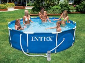 Zwembad Intex Metal Frame met filterpomp Ø305x76 cm