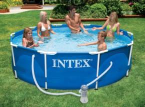 Zwembad Intex Metal Frame met filterpomp 366x76 cm