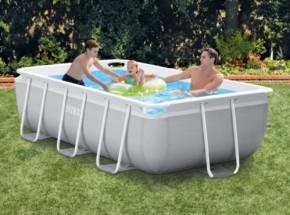 Zwembad Intex Prism Frame Rectangular met filterpomp en zwembadtrap 300x175x80 cm