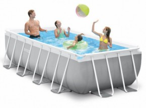 Zwembad Intex Prism Frame Rectangular met filterpomp en zwembadtrap 488x244x107 cm