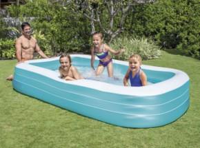 Opblaasbaar Familiezwembad Intex met 3 ringen 305x183x56 cm