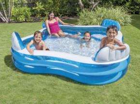 Zwembad Intex Family Lounge met opblaasstoeltjes 229x229x66 cm