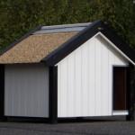 Geisoleerd Hondenhok Turbo Wit met Rieten dak