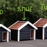 Serie luxe hondenhokken met dakpannen