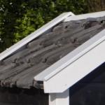 Zwart/wit hondenhok Reno, met keurige renovatie dakpannen