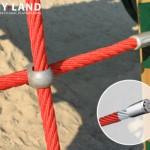 Klimnet van polyester touw versterkt met staaldraad