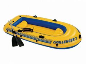 Intex opblaasboot Challenger 3 Set met peddels en pomp 295x137x43 cm