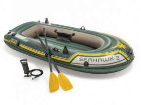 Intex opblaasboot Seahawk 2 Set met peddels en pomp 236x114x41 cm