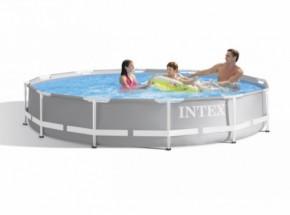 Zwembad Intex Prism Frame met filterpomp en zwembadtrap Ø366x99cm