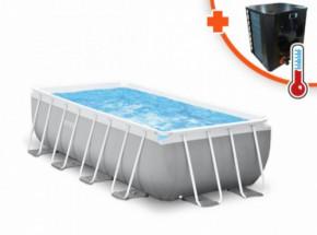 Zwembad Intex Prism Frame Met EasyHeat 2 warmtepomp 400x200x100cm