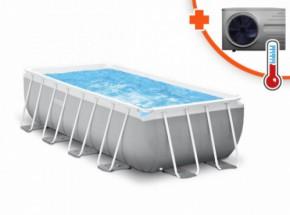 Zwembad Intex Prism Frame Met Inverter Pro 6 warmtepomp 488x244x107cm