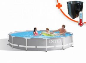 Zwembad Intex Prism Frame Met EasyHeat 2 warmtepomp 305x76cm