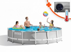 Zwembad Intex Prism Frame Met Inverter Pro 6 warmtepomp 457x107cm