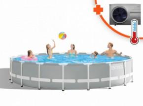 Zwembad Intex Prism Frame Met Inverter Pro 8 warmtepomp 610x132cm