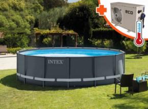Zwembad Intex Ultra Frame Met Eco+ 5 warmtepomp 488x122cm