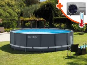 Zwembad Intex Ultra Frame Met Interver Pro 6 warmtepomp 488x122cm