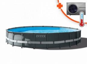 Zwembad Intex Ultra Frame Met Interver Pro 6 warmtepomp 610x122cm
