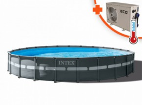 Zwembad Intex Ultra Frame Met Eco+ 12 warmtepomp 732x132cm