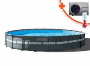 Zwembad Intex Ultra Frame Met Inverter Pro 13 warmtepomp 732x132cm