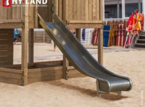Glijbaan Hy-Land Steel Slide, RVS-glijbanen voor professioneel gebruik