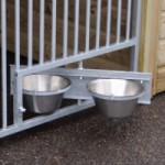 Hondenkennel Rex 2 Dubbel - draaibaar voederstel