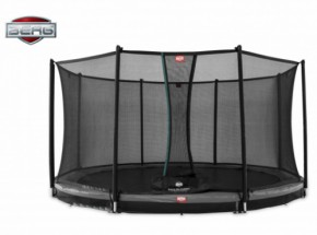BERG InGround trampoline Favorit Grijs - met net Comfort 380cm