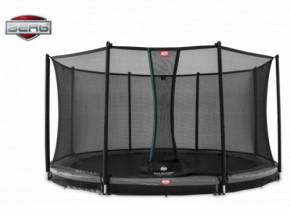 BERG InGround trampoline Favorit Grijs - met net Comfort 430cm