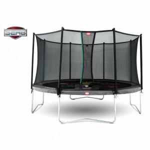 BERG trampoline Favorit Levels Grijs - met net Comfort 430cm