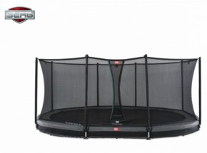 BERG InGround trampoline Grand Favorit Grijs - met net Comfort 520x340cm