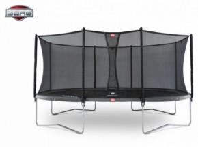 BERG trampoline Grand Favorit Grijs - met net Comfort 520x340cm