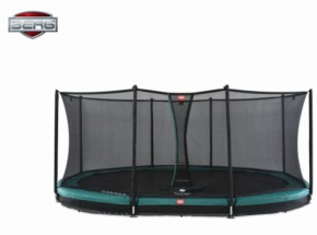 BERG InGround trampoline Grand Favorit Groen - met net Comfort 520x340cm