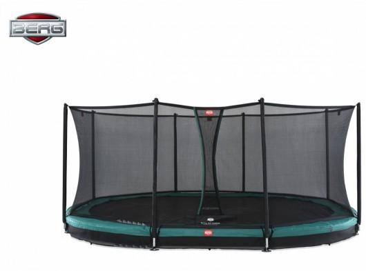 BERG InGround trampoline Grand Favorit Groen - met net Comfort 520x340cm