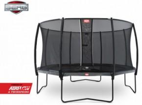 Trampoline BERG Champion Levels Grijs - met veiligheidsnet Deluxe 430cm