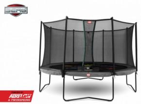 Trampoline BERG Champion Levels Grijs - met veiligheidsnet Comfort 430cm