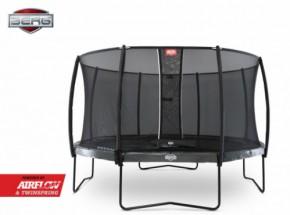 BERG trampoline Elite Levels Grijs - met safetynet Deluxe 430cm