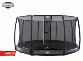BERG InGround trampoline Elite Levels Grijs - met safetynet Deluxe 430cm