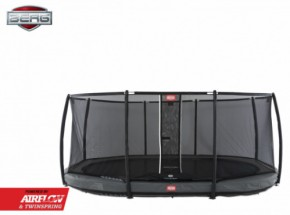 Trampoline BERG Grand Champion 520 InGround Grijs - met net Deluxe 520x340cm