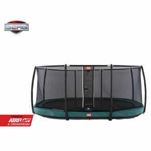 Trampoline BERG Grand Champion 470 InGround Groen - met net Deluxe 470x310cm