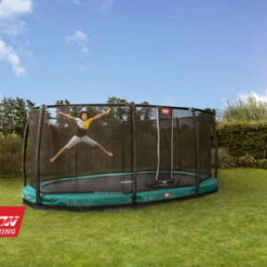 Trampoline BERG Grand Champion 350 InGround Groen