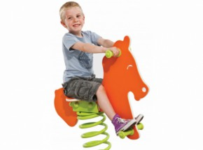 Wipkip - Veerwip Paard met veer & voetplaat - Safari