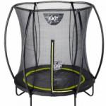 Opbouw trampoline, op poten, met veiligheidsnet