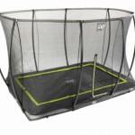 Rechthoek ingraaf trampoline met veiligheidsnet
