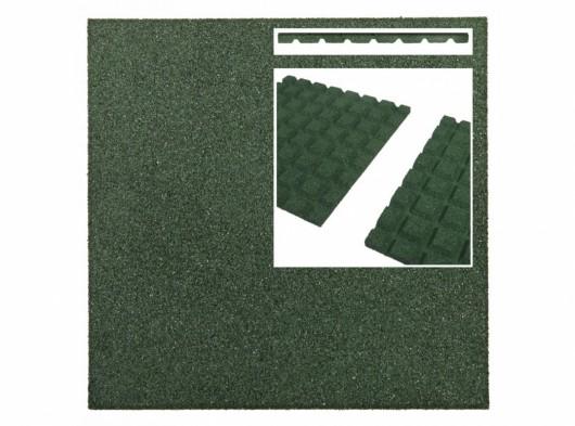 Rubber tegel groen 25mm 50x50cm