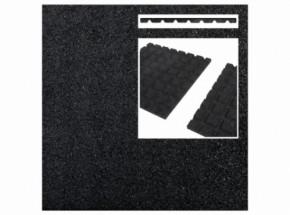 Rubber tegel zwart 45mm 50x50cm
