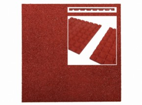 Rubber tegel rood 25mm 50x50cm