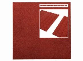 Rubber tegel rood 45mm 50x50cm