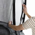 Trampoline EXIT Elegant Premium Rectangular - opening veiligheidsnet
