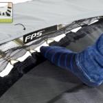 Trampoline EXIT Elegant Premium Rectangular - foot protection system