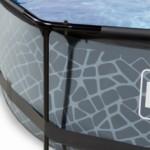 Zwembad EXIT Stone met overkapping en filterpomp Ø300x76 cm