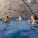 Zwembad EXIT Stone met overkapping en filterpomp Ø360x76 cm